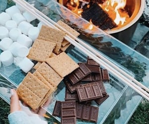summer, chocolate, and marshmallow image