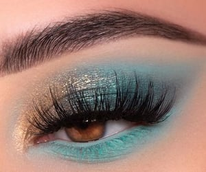 brown eyes, lashes, and make up image