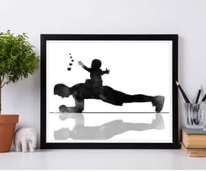 etsy, yoga art print, and yoga lovers gift image