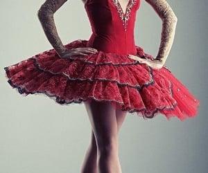 ballerina, elegant, and red image