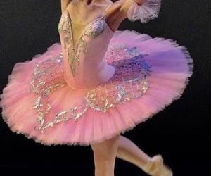 ballerina, elegant, and pink image