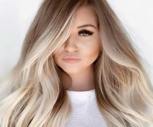 blonde, hair, and brunette image