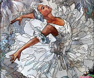 ballerina, ballet, and coloring image