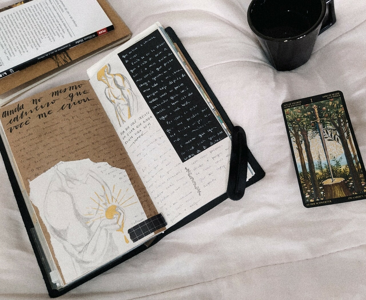 aesthetic, art journal, and book image