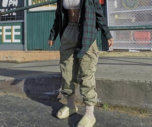green, slides, and street style image