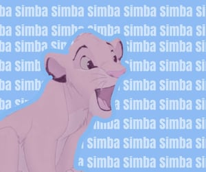aesthetic, disney, and simba image