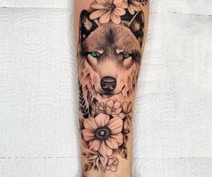 lobo, tatuagem feminina, and inspiração image