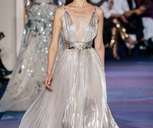 Couture, fashion show, and pearl image