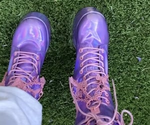 boots, outfit, and purple image