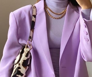 blazer, monochromatic, and outfit image