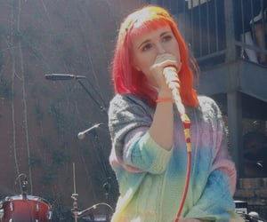 hayley williams, pink hair, and zac farro image
