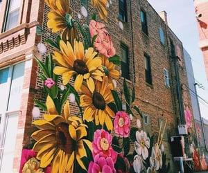 flowers, art, and graffiti image