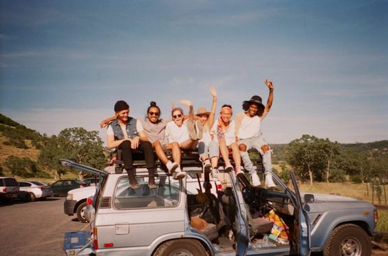 besties, roadtrip, and camping image