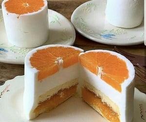 cake, orange, and food image