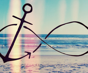 infinity, anchor, and beach image