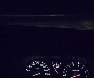 beach, driving, and lights image