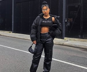 black, stefneyv, and fashion image