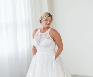 bridal gown, bridal wear, and lace image