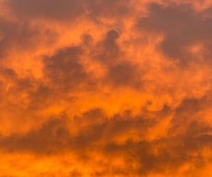 clouds, fire, and lava image