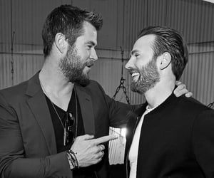 chris evans and chris hemsworth image