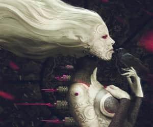 dark, raven, and dark aesthetic image