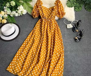 amarelo, perfect, and dress image