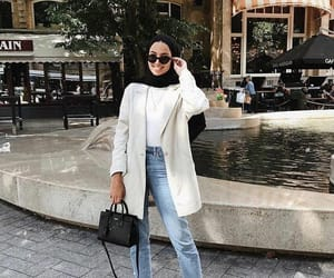 black, hijab, and jeans image