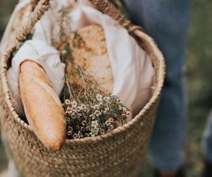 bakery, basket, and beige image