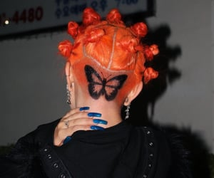 butterfly, haircut, and nails image