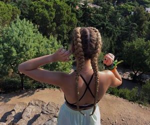 blonde, braids, and cool image