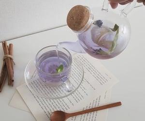 aesthetic, tea, and purple image