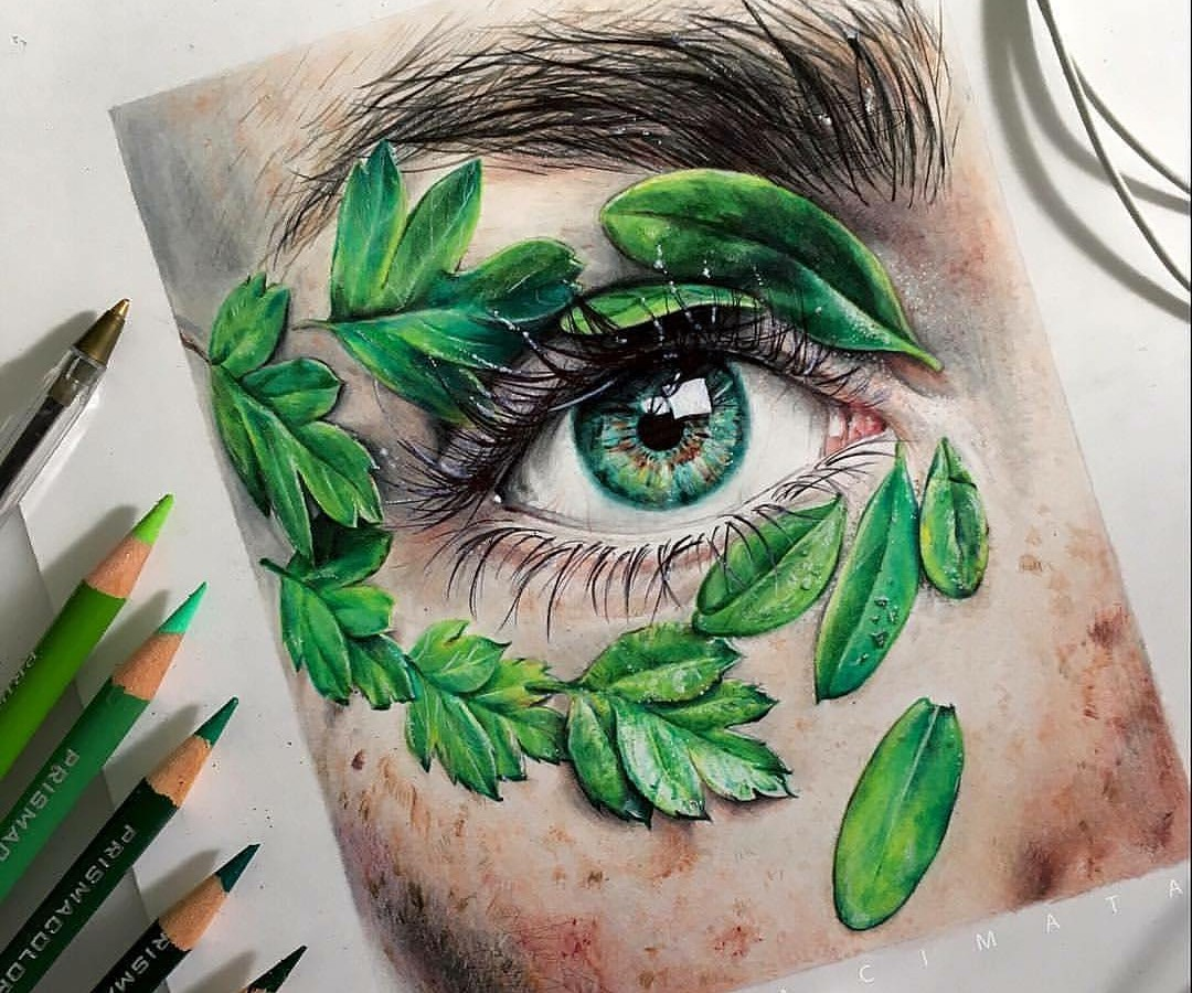 art, green, and relax image