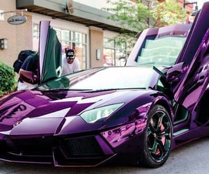car, purple, and Lamborghini image