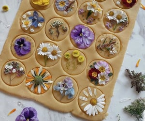 flowers, sweet, and food image