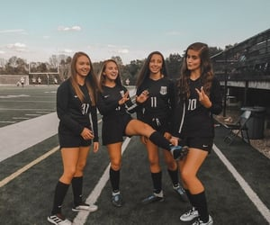 soccer, sports, and friends image