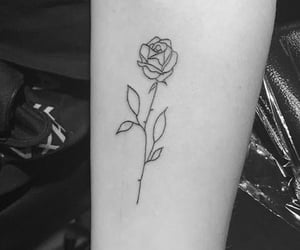 rose, tattoo, and tatovering image