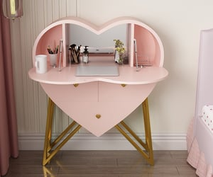 bedroom, dressing table, and girl image