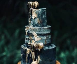 cake, dark, and dessert image