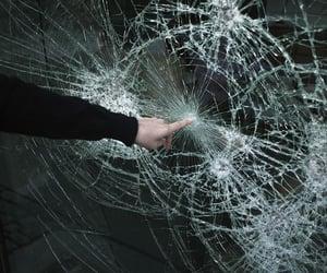 grunge, glass, and broken image