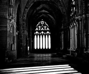 architecture, dark, and black and white image