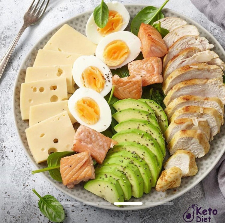 avocado, cheese, and Chicken image