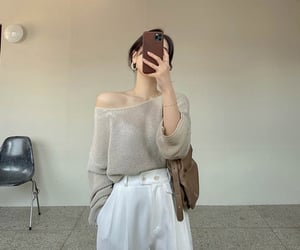 aesthetic, beige, and clothing image