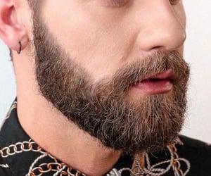 beard, lips, and handsome image