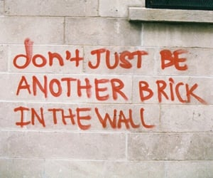 quotes, wall, and brick image