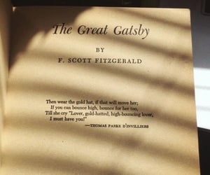 book, the great gatsby, and aesthetic image