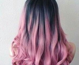 color hair, pink hair, and wave hair image