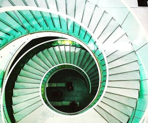 green, interiors, and spiral image