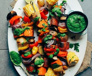 food, bbq, and vegetables image