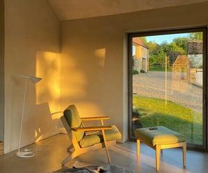 interior, window, and golden hour image