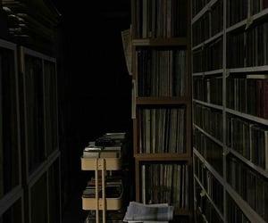 aesthetic, bookshelves, and books image